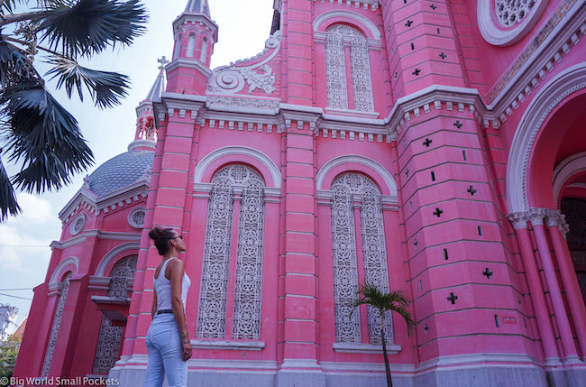 Vietnam, Ho Chi Minh, Me at Pink Church