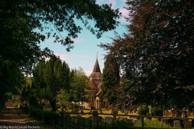 England, Box Hill, Mickleham Church