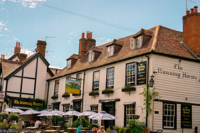 England, Box Hill, Running Horses Pub