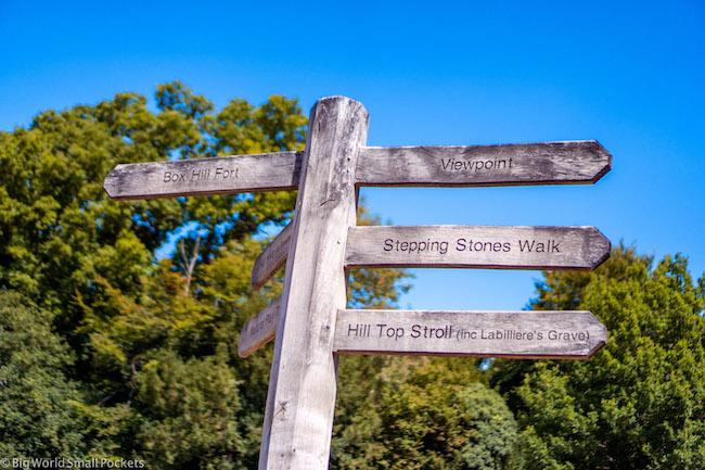 England, Box Hill, Sign Post