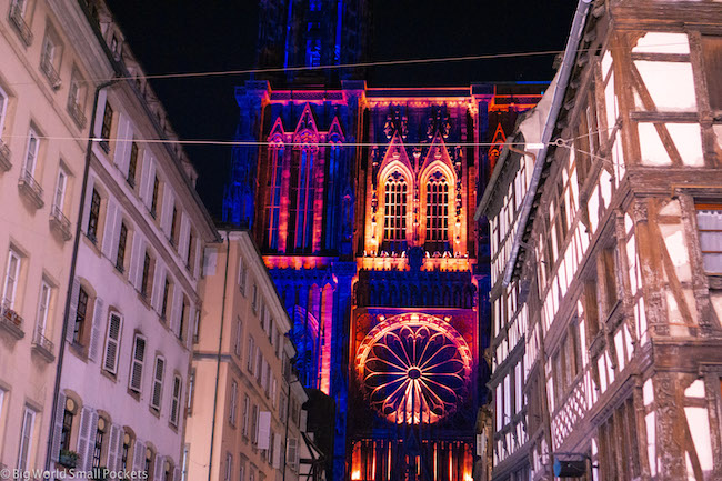 France, Strasbourg, Cathedral Light Show