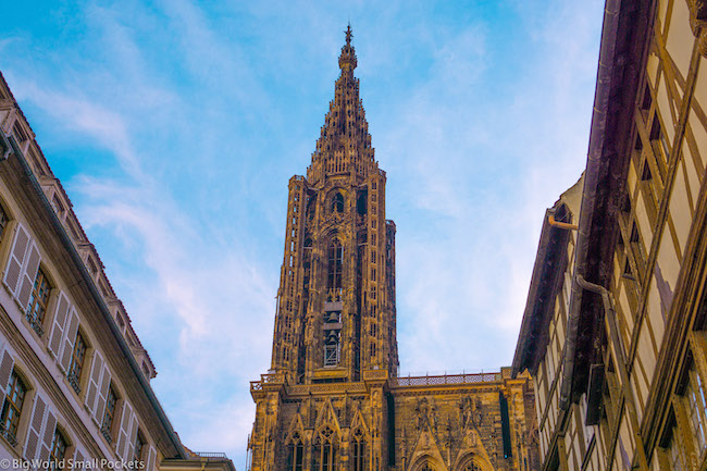 France, Strasbourg, Cathedral Spire