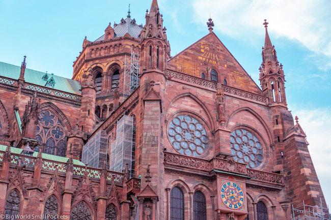 Strasbourg, Cathedral, Pink Hue
