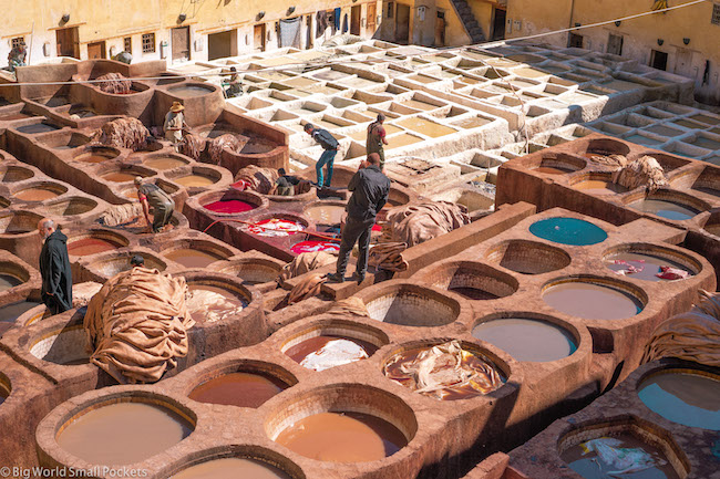 Morocco, Fez, Tanneries