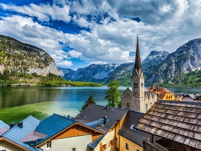Austria, Lake, Town