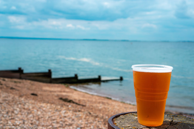 England, Whitstable Beach, Beer