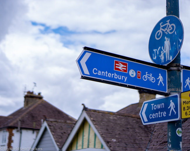 England, Whitstable, Canterbury Sign