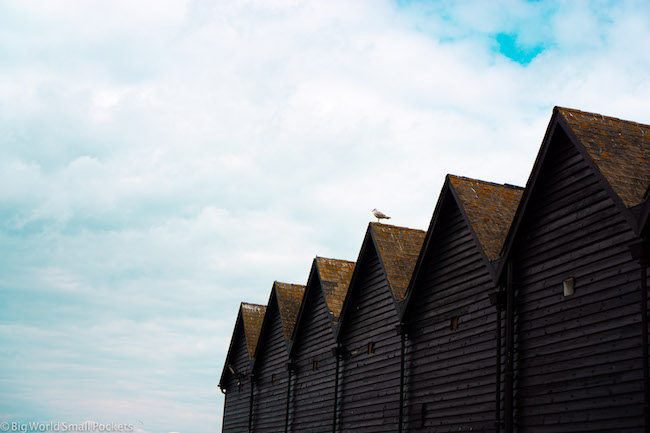 England, Whitstable, Weatherboard Huts