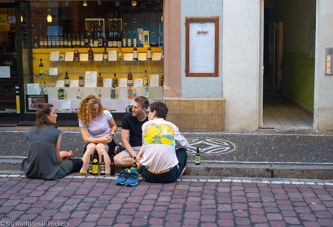 Germany, Freiburg, Locals