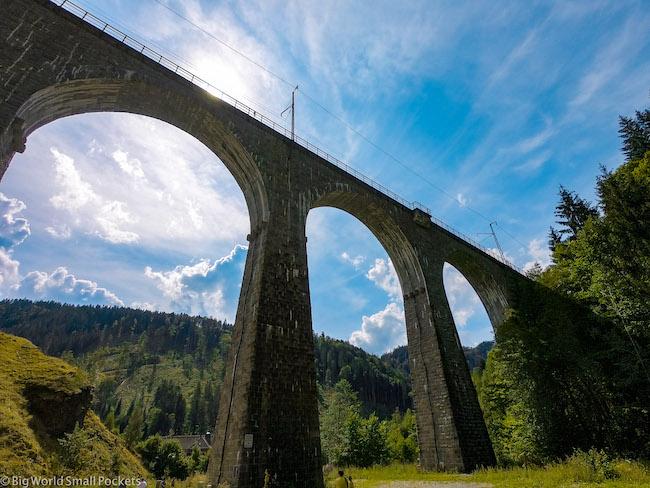 Germany, Freiburg, Ravenna Bridge