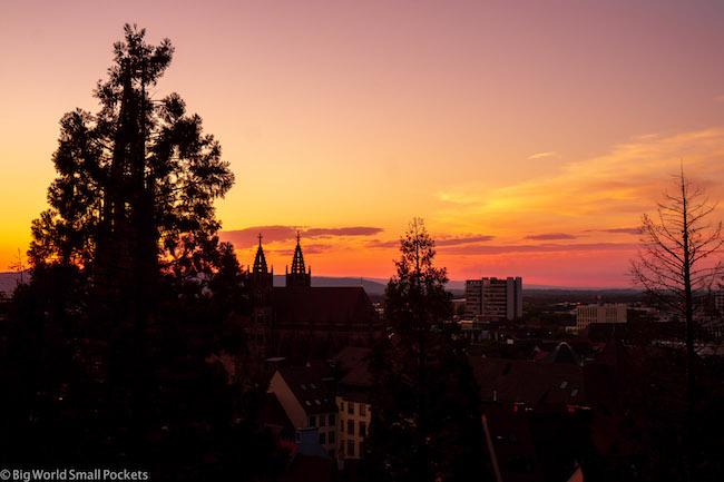 Germany, Freiburg, Sunset