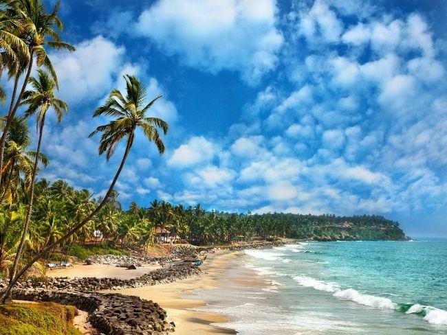 India, Kerala, Beach