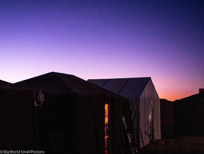 Morocco, Sahara, Desert Camp Tent