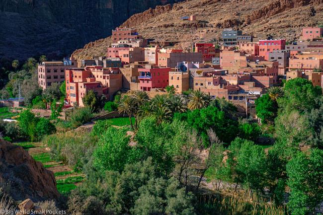 Morocco, Todra Gorge, Village
