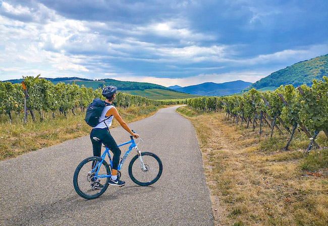 France, Cycling Alsace, Me