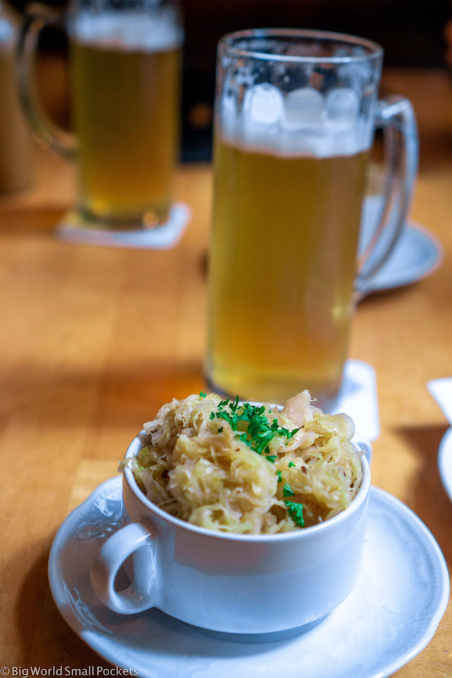 Germany, Heidelberg, Beer & Sauerkraut
