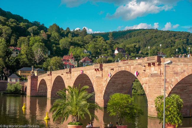 Germany, Heidelberg, Bridge & River