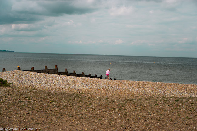 Kent, Whitstable, Girl on Beach