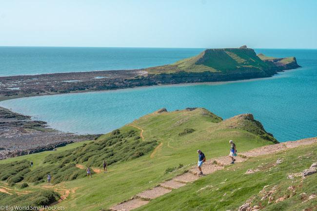 Wales, Gower Peninsula, Walking to Worms Head