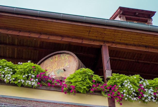 France, Alsace, Wine Barrel