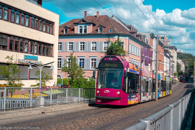Germany, Freiburg, Trams