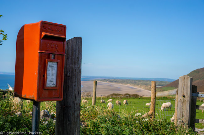 Wales, Gower, Letterbox