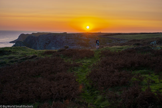 Wales, Gower, Sunset