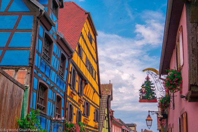 France, Alsace Wine Route, Village