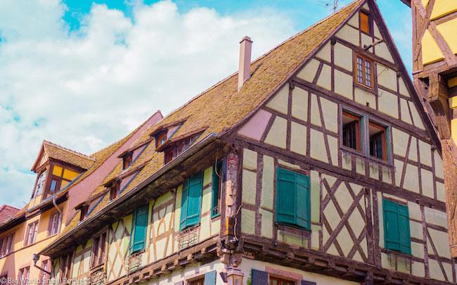 France, Alsace, Half-Timbered Village