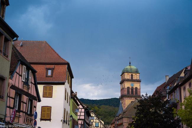 France, Alsace, Moody Sky