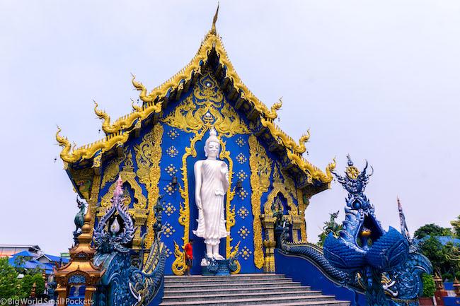 Thailand, Chiang Rai, Blue Temple Statue