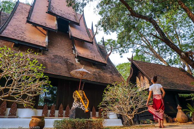 Thailand, Chiang Rai, Me at Black Temple