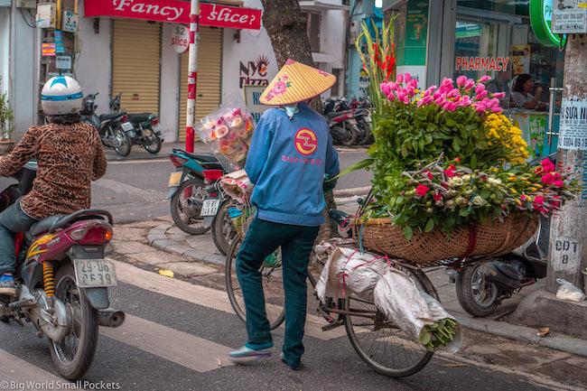 Vietnam, Hanoi, Flower Seller