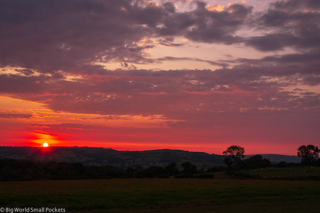 Wales, Brecon Beacons, Sunset