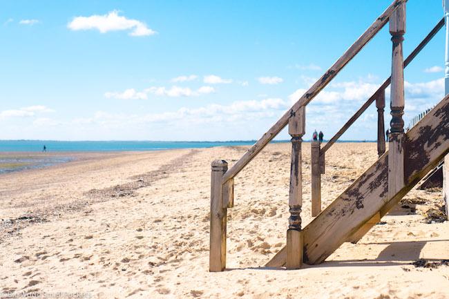 England, Essex, Mersea Island Beach Hut