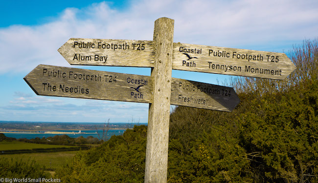 England, Isle of Wight, Signpost