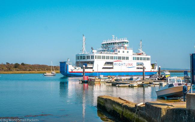 England, Wightlink Ferry, Lymington Harbour