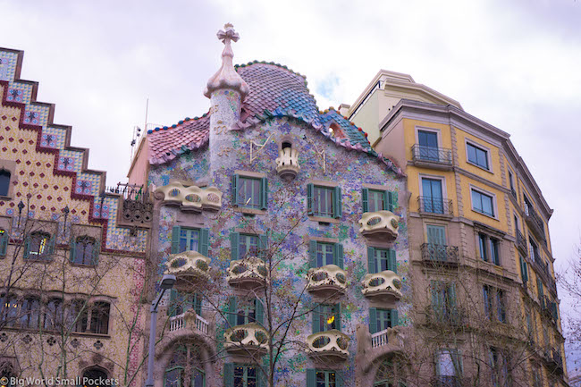 Spain, Barcelona, Gaudi Building