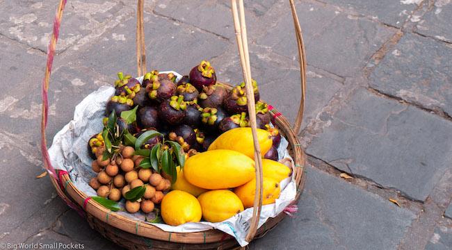 Vietnam, Hoi An, Market Food Basket