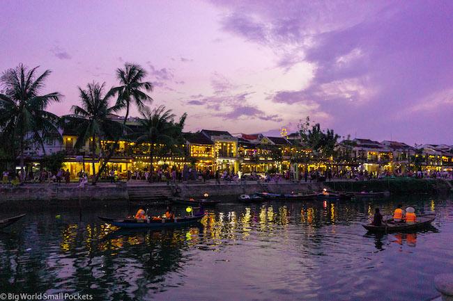 Vietnam, Hoi An, River at Night