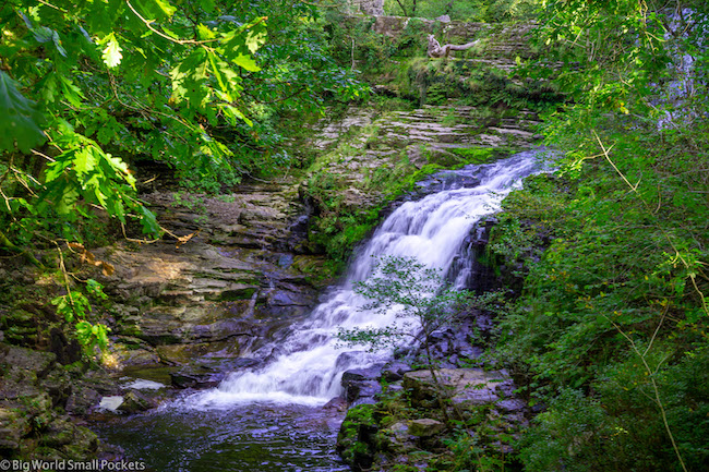 Wales, Brecon Beacons, Waterfall 4