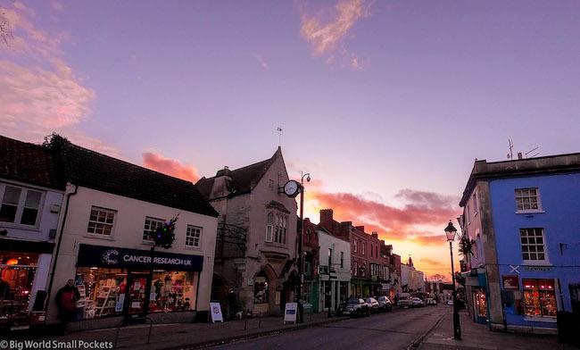 England, Glastonbury, Sunset