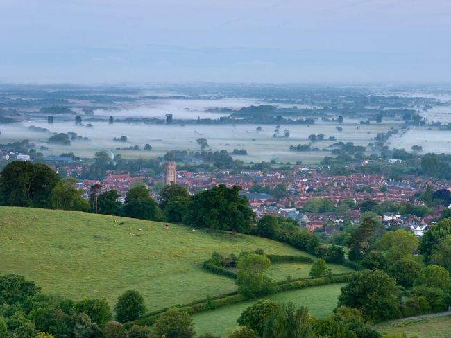 UK, Somerset, Glastonbury Town
