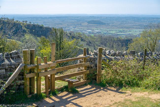 UK, Somerset, Cheddar Gorge Gate