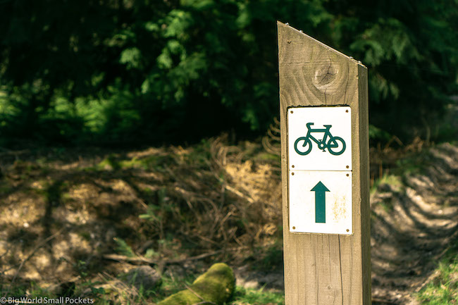 England, New Forest, Cycle Trail Sign