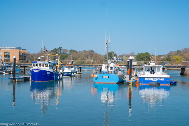 UK, New Forest, Lymingotn Boats