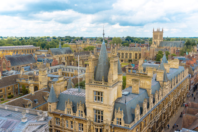 England, Cambridge, View from St Mary's