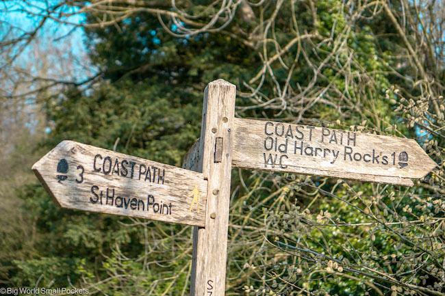 England, Dorset, Southwest Coast Path Sign
