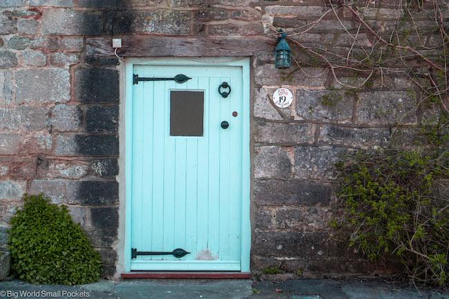 UK, Dorset, Blue Doorway