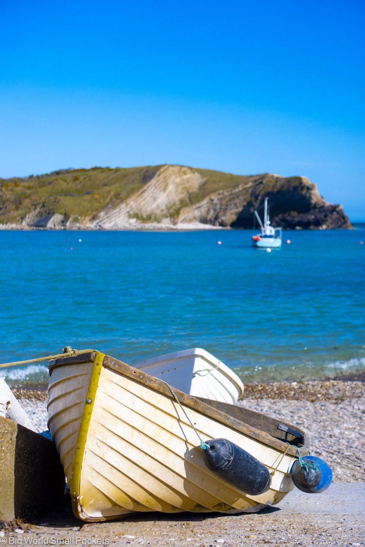 UK, Dorset, Little Sailing Boat